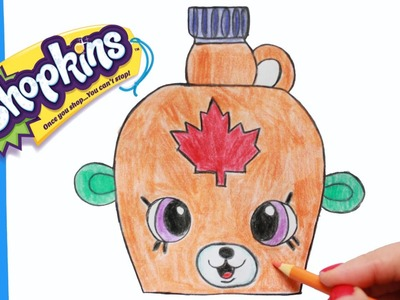 "How to Draw Shopkins Season 4 ""Mable Syrup"" Petkins Step By Step 