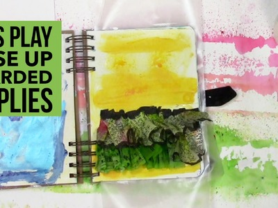How to get over hoarding art supplies in an art journal