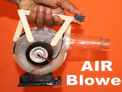 How to Make a AIR BLOWER at HOME - EASY to make and Portable