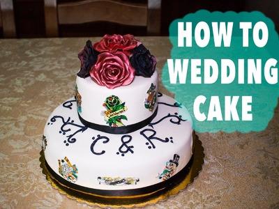 HOW TO MAKE A ROCK WEDDING CAKE