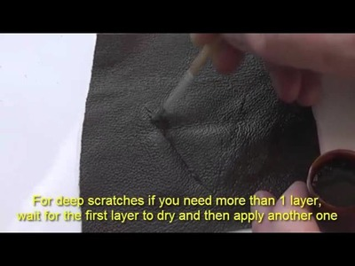 How to repair leather tears and cuts using Leather Repair Doctor