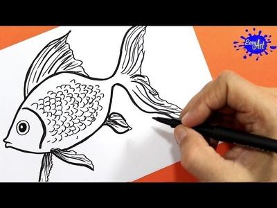 Como dibujar un pez | how to draw fish | Easy art