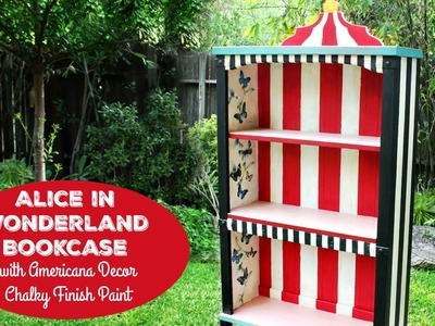 HOW TO: Alice in Wonderland Bookcase