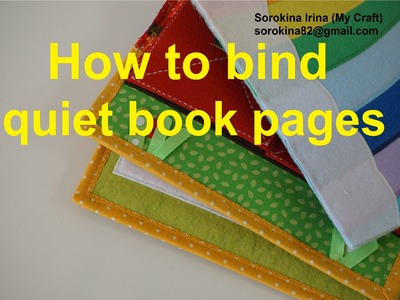 How to bind quiet book pages
