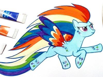 How to draw Rainbow Dash | rainbow power