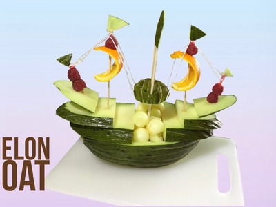 How to Make a Boat With Melon  - By J Pereira Art Carving