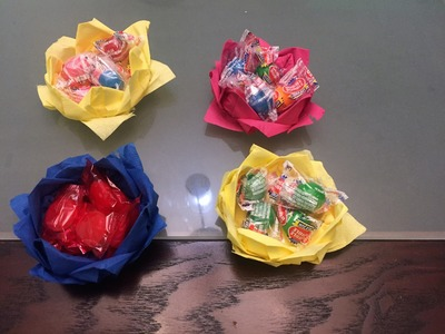 How to Make a Candy Bowl out of Paper Napkins Video Tutorial: Inexpensive Mother's Day Gift!!