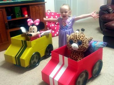 How to Make a Cardboard Box Car for Kids