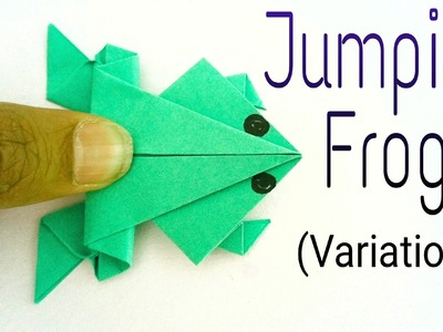 """How to make a paper """"Traditional Jumping Frog"""