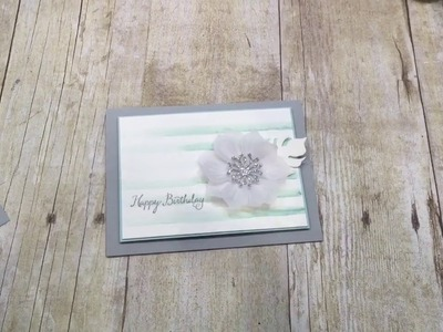 How to make a simple Vellum Flower Card