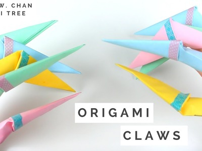 How to Make Origami Claws - Fold Paper Claws!