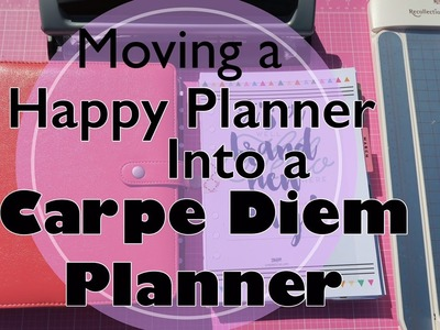 How to Move a Happy planner into a Carpe Diem A5 Binder Planner| I'm A Cool Mom