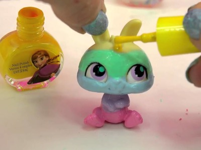 How to Paint Rainbow Painting with Disney Frozen Nail Polish A Surprise Handmade Blind Bag