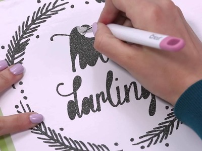 How to Use Glitter Vinyl and Strong Grip Transfer Tape