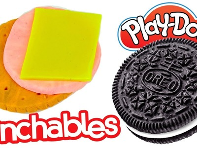 Play-Doh LUNCHABLES! How to Make Playdoh Oreo Cookies and Ritz Crackers with Ham and Cheese
