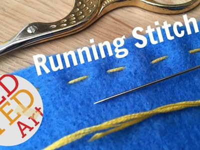 Running Stitch How To - Basic Sewing (Hand Embroidery & Hand Sewing)