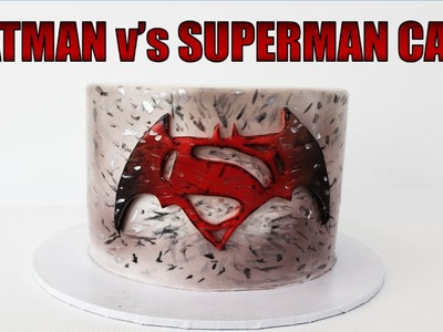Batman v's Superman Cake | How to make from Creative Cakes by Sharon