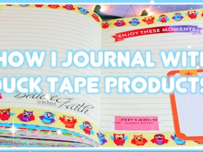How I Journal With Duck Tape! Journal With Me.Chat Video!