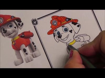 HOW TO BASIC - COLOR PAW PATROL MARSHALL DOG