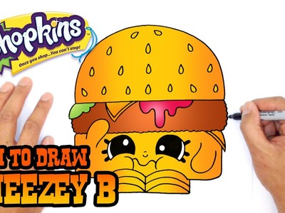 How to Draw Cheezey B (Shopkins)- Kids Art Lesson