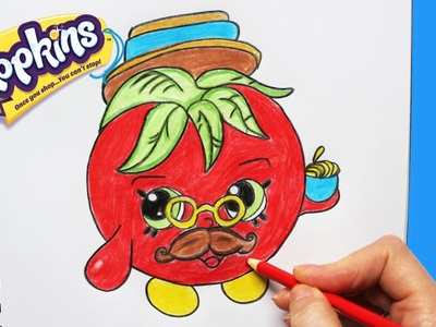 How to Draw Shopkins Season 1 Papa Tomato Limited Edition | Toy Caboodle