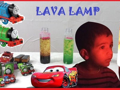 How to Make a Lava Lamp - Easy Science Experiments for Kids with Awesome Thomas and Friends trains