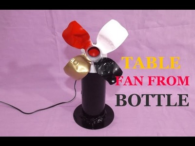 How To make a Table Fan From Spray can and Plastic Bottle