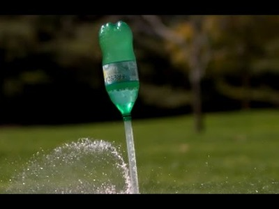How to make a water rocket with a plastic bottle