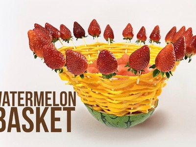 How to make a Watermelon Basket. By J Pereira Art Carving Fruits