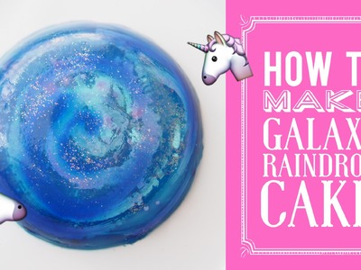 How to Make Galaxy RAINDROP CAKE | Water Cake | Ooho | Greggy's Digest