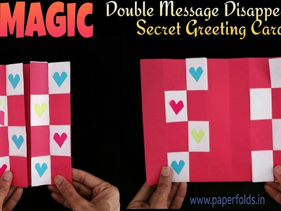 "How to make Magic - ""Double message disappearing secret greeting card"