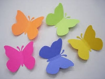 How To Make Paper Butterfly Step By Step 2016
