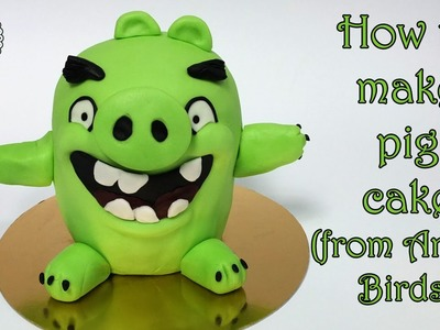 How to make pig cake (from Angry Birds). Jak zrobić tort świnię z Angry Birds