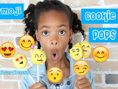 Kid Kitchen- How to Make Emoji Cookie Pops