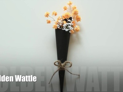 PAPER FLOWER: Golden Wattle : How to make paper flowers!!