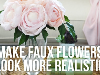 Tip Tuesday: How to Make Faux Flowers Look More Realistic