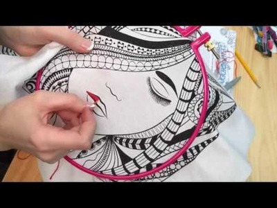 Zenbroidery: How to Satin Stitch