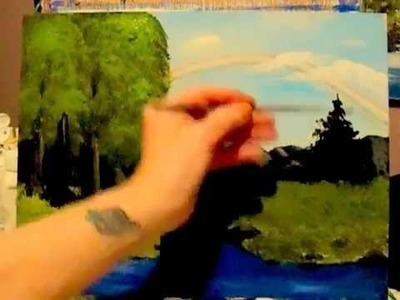 6 Fan Brush techniques for Acrylic Painting, how to use your fan brush