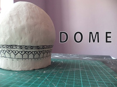 DOME - LOWER HALF | How to make a model of Taj Mahal | Architecture Model Making
