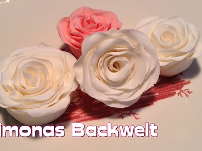 Fondant Rose mit der Wickeltechnik herstellen. How to make fondant roses (wind - technique)