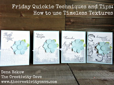 Friday Quickie: How to use Timeless Textures Stamp Set from Stampin Up