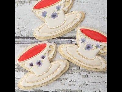 How to Decorate Inspired Wedgwood Teacup Cookies