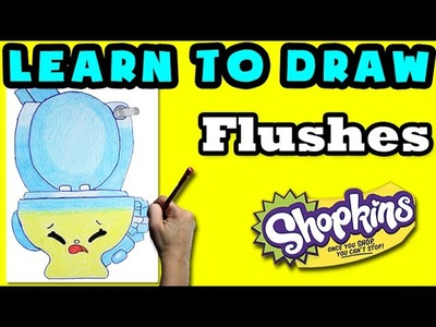 How To Draw Shopkins: Flushes - Learn How To Draw Season 4 Shopkins, Drawing Shopkins Season 4