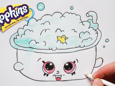 "How to Draw Shopkins Season 5 ""Bertha Bath"" Step By Step Easy 
