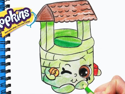 """How to Draw Shopkins Season 5 """"Penny Wishing Well"""" Step By Step Easy 