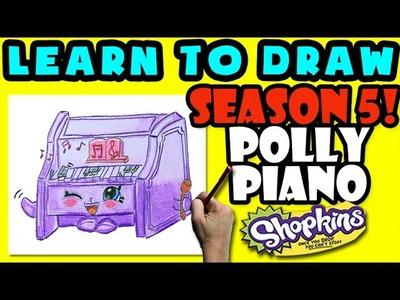 How To Draw Shopkins SEASON 5: Polly Piano, Step By Step Season 5 Shopkins Drawing Shopkins
