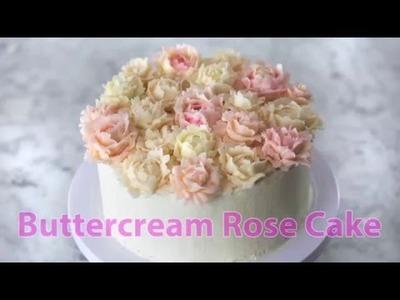 How to Make a Buttercream Rose Cake