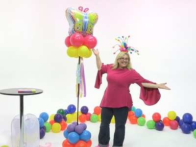 How To Make a Butterfly Cloud 9 Balloon Tower