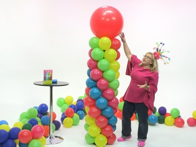How To Make a Fiesta Balloon Column (5 Color Spiral)