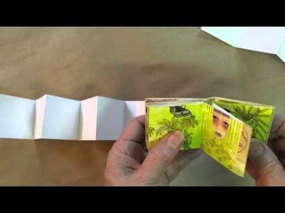 How to make a mini mixed media book